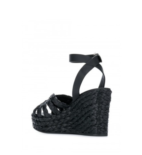 Prada Black Wedges Image 2