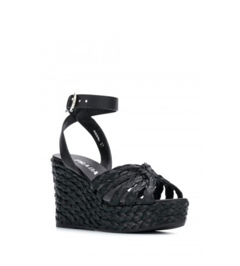 Prada Black Wedges Image 3