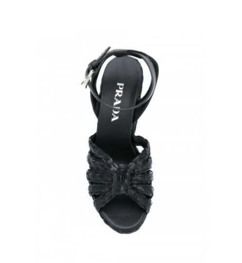 Prada Black Wedges Image 4