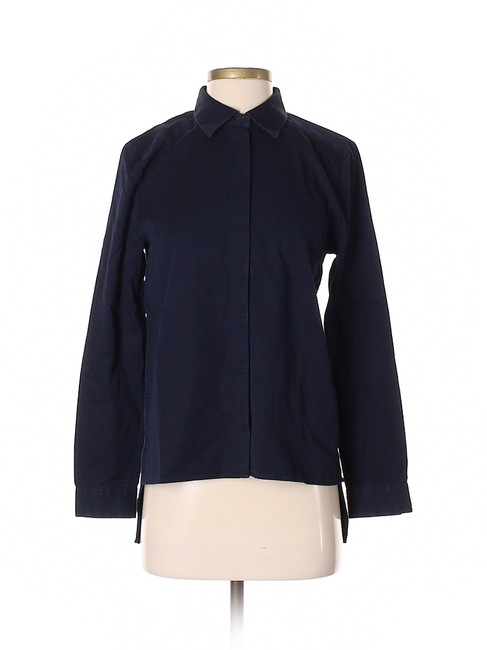 Preload https://img-static.tradesy.com/item/25051104/dkny-blue-cotton-button-down-top-size-os-0-0-650-650.jpg