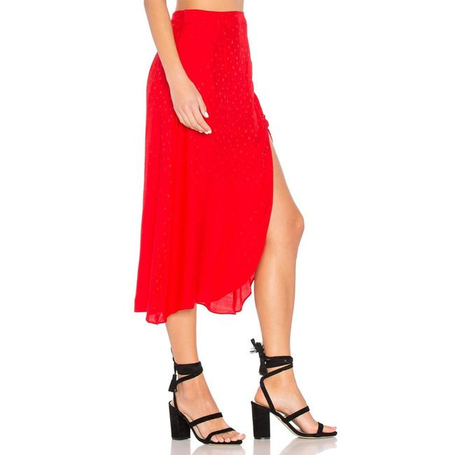 For Love & Lemons Skirt Red Image 1