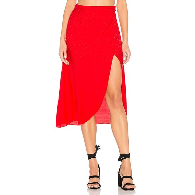 For Love & Lemons Skirt Red Image 2