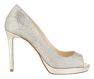 Jimmy Choo silver / gold Platforms