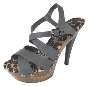 Jessica Simpson grey, wooden Platforms