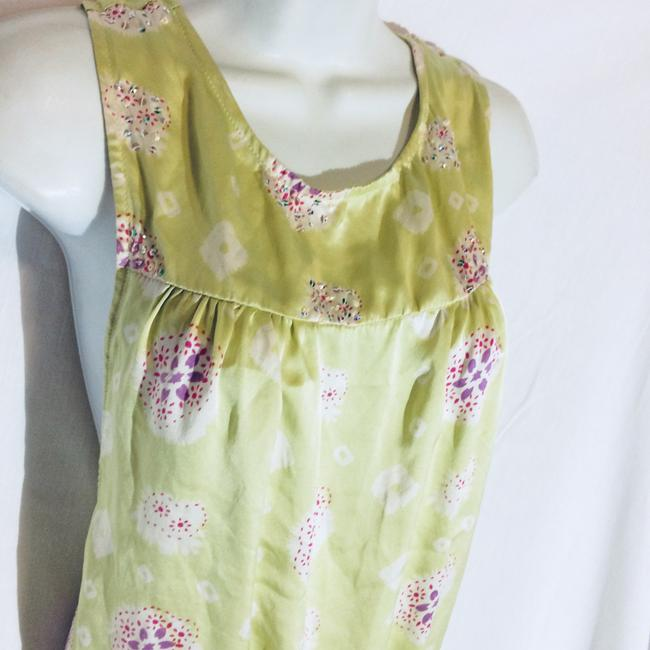 Silk Top Top Pale Green Image 1