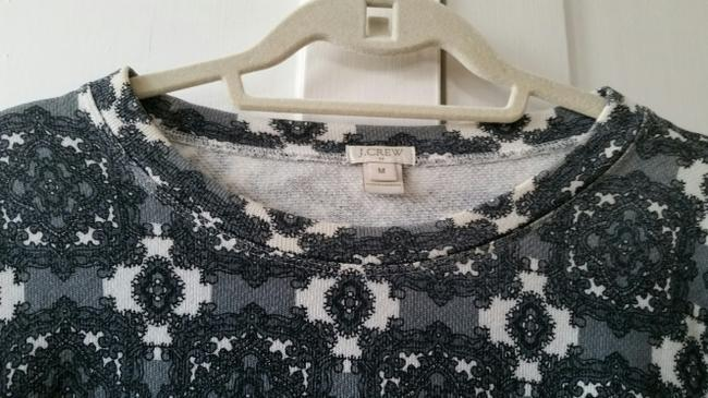 J. Crew Factory Medallion Damask Pullover T Shirt Grays and White Image 6