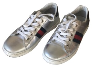 2036b1be0ba Added to Shopping Bag. Gucci silver Athletic. Gucci Silver Children s Ace Leather  Sneaker ...