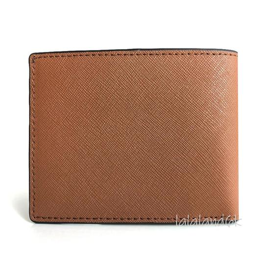 Michael Kors Luggage Brown Saffiano Leather Slim Bifold Wallet Men's Jewelry/Accessory Image 2