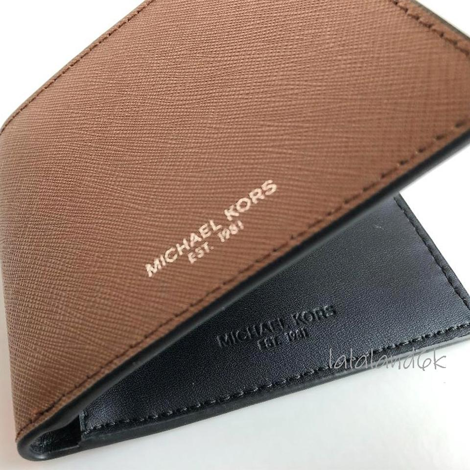 49e41b390ee1 Michael Kors Luggage Brown Saffiano Leather Slim Bifold Wallet Men's  Jewelry/Accessory