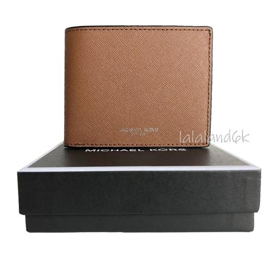 Michael Kors Luggage Brown Saffiano Leather Slim Bifold Wallet Men's Jewelry/Accessory Image 4