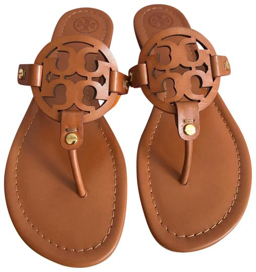 ccf62f2d745c7 Tory Burch Brown 9.5m Miller Veg Leather Sandals. Size  US 9.5 Regular ...
