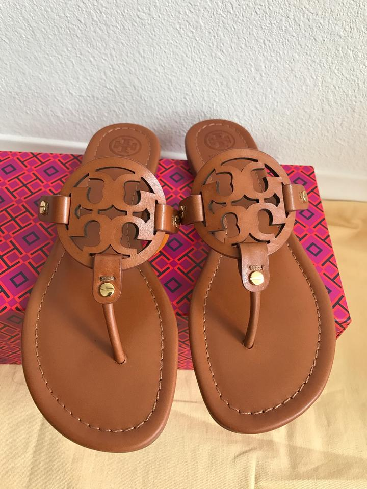 d5a5ead8fc2a7 Tory Burch Brown 9.5m Miller Veg Leather Sandals Size US 9.5 Regular ...