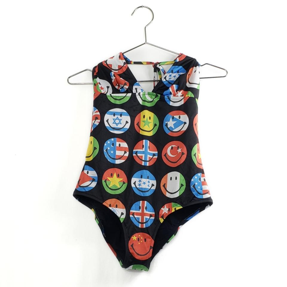 46bbb5759c72c Moschino Different Flags Print Smiley Faces Swimsuit One-piece Bathing Suit
