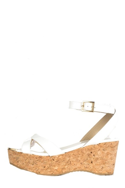 Item - White Patent Leather Cork Wedges Size EU 37 (Approx. US 7) Regular (M, B)