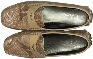 Cole Haan Print Slip On Loafers tan snake Flats