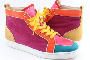 Christian Louboutin Multicolor Suede Nappa Rantus Orlato Sneakers Shoes