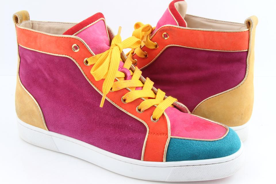 low priced bb0a9 5539e Christian Louboutin Multicolor Suede Nappa Rantus Orlato Sneakers Shoes 38%  off retail