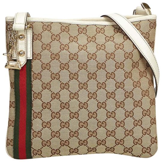 769c7c70c7e Gucci Jolicoeur Gg Brown Blend Leather Cross Body Bag - Tradesy