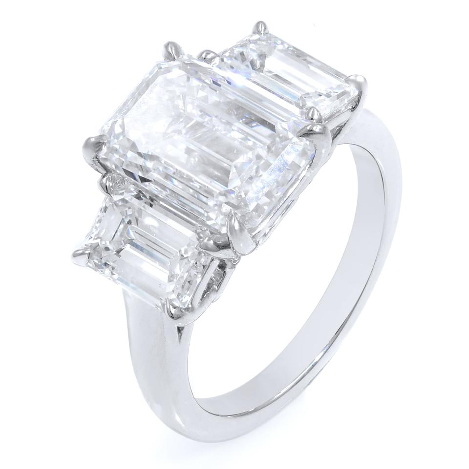 20f79f99bebe1 Gavriel's Jewelry E Vs2 Three Stone Emerald Cut Engagement Gia Certified  Ring