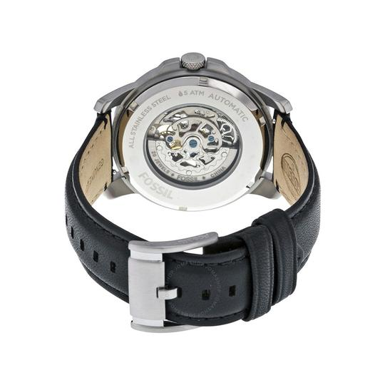 b58171263a24 ... Fossil Fossil Men s ME3053 Grant Silver Black Leather Automatic Watch  Image 1