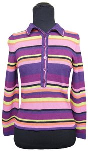 Ball of Cotton Striped Collared Sweater
