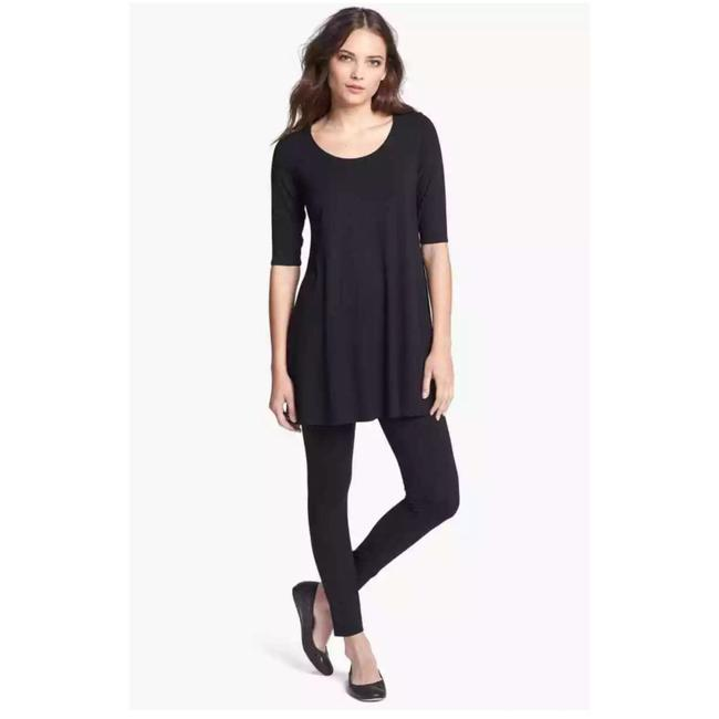 Item - Black Scoop Neck Tunic Size 00 (XXS)