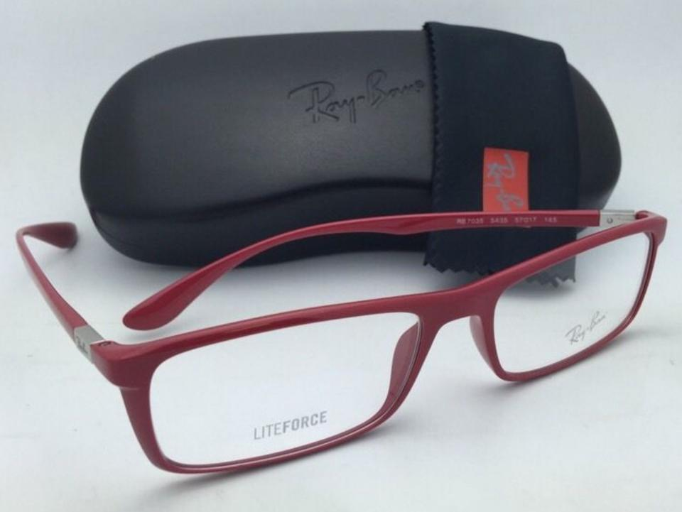 0a6544d1cd1dd Ray-Ban New Rx-able Liteforce Rb 7035 5435 54-17 Red Frames ...