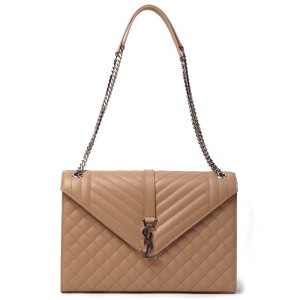 Saint Laurent Monogram Envelope Leather Chain Large Flap Shoulder Bag 6a85573a73ab0
