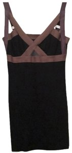 VPL short dress Brown, Black, Grey on Tradesy