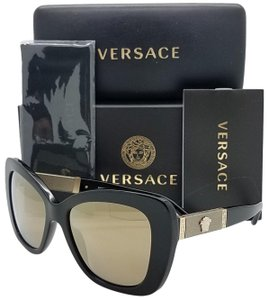 bc0b795ed80 Versace Black Gold Ve4305q Gb1 5a Medusa 4305 Cat Eye Sunglasses ...