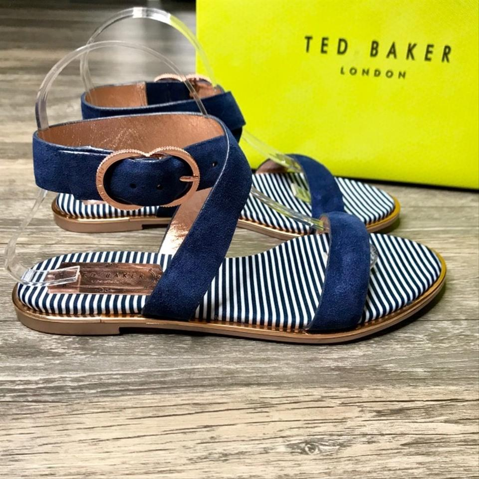 894225a97f2779 Ted Baker Navy Blue Qereda Sandals Size EU 38.5 (Approx. US 8.5 ...