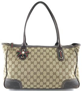 25f35df8621f8 Gucci Canvas Leather Tote Guccissima Shoulder Bag