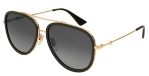 Gucci Polarized Aviator Style GG 0062s 011 FREE 3 DAY SHIPPING Large Aviator