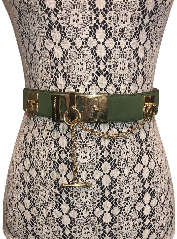 c2108d9ae BCBGMAXAZRIA Olive Green Faux Suede Toggle Belt Image 0 ...