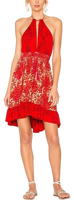 Item - Red Bech Day Mini Short Casual Dress Size 12 (L)