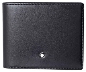 Montblanc Meisterstuck 6CC Crafted In Cowhide Leather Unisex Wallet