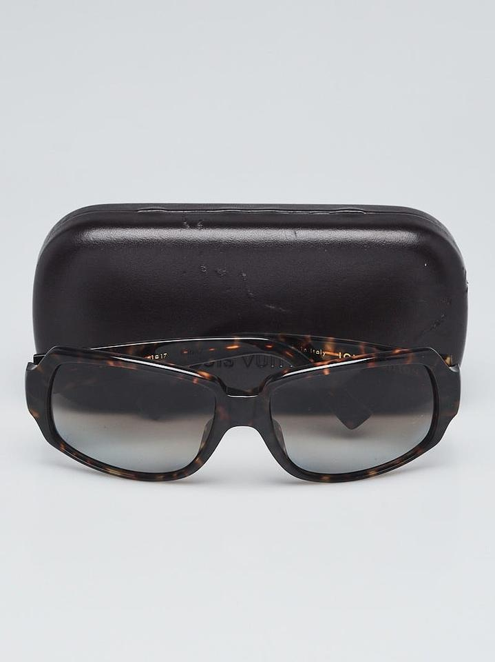 c3998fda037 ... tortoise shell acetate Obsession Carre LV sunglasses Image 5. 123456