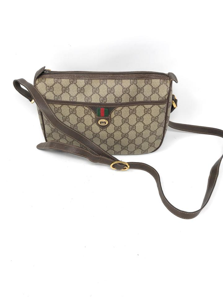 3cf01473c71260 Gucci Shoulder Bag/ Gg Brown Coated Canvas Cross Body Bag - Tradesy