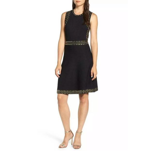 Item - Black Studded Sweater Short Cocktail Dress Size Petite 4 (S)