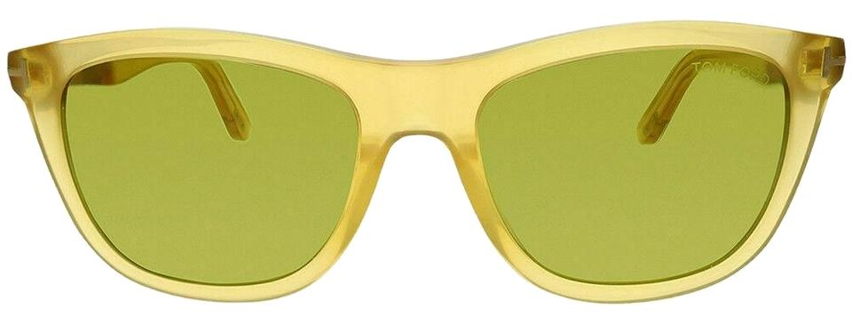 b37ac4a737f Tom Ford Ft 0500 41n 54mm Yellow Green Anti-reflective Sunglasses ...