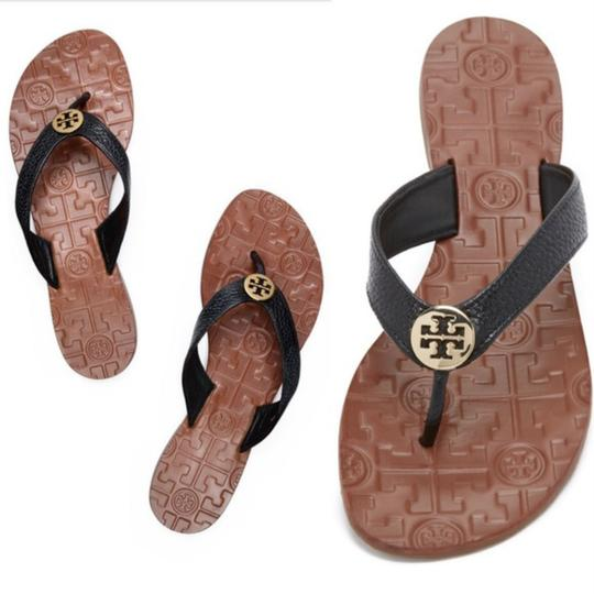e67811c21300 Tory Burch Black Leather Sandals Size US 7 Regular (M