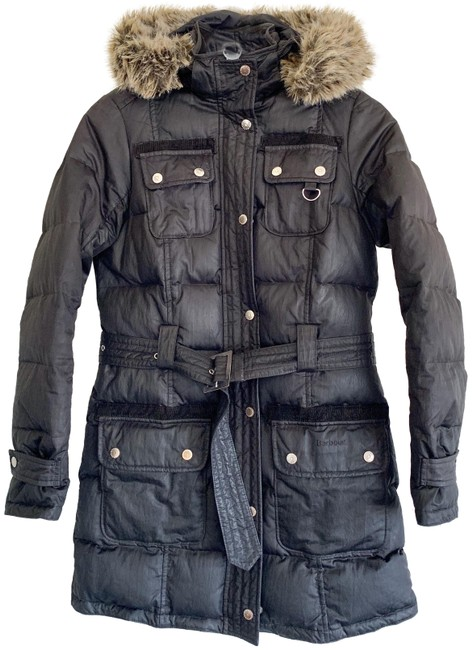 Item - Black Waterproof Hooded Feather Down Coat Size 4 (S)