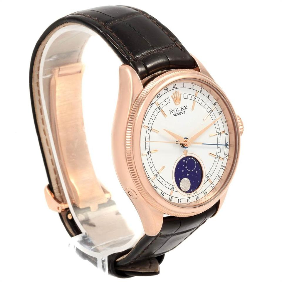 Rolex White Cellini Moonphase Everose Rose Gold Mens 50535 Watch 6% off  retail