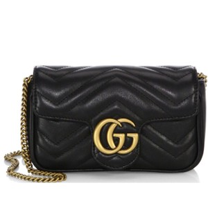 804e8b3faef3 Added to Shopping Bag. Gucci Cross Body Bag. Gucci Marmont Gg Matelassé Quilted  Leather Super Mini Black ...