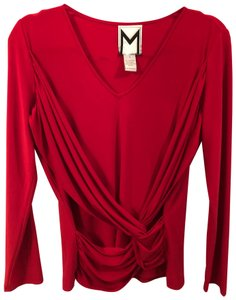 Marc Bouwer Knit Top Red