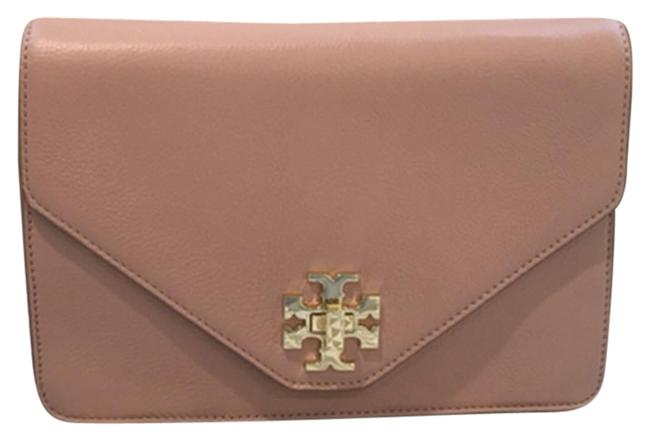 Item - Kira Envelope 41149590 Indian Rose and Champagne Gold Leather Cross Body Bag