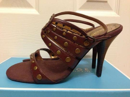 Charles by Charles David Leather Brown Sandals