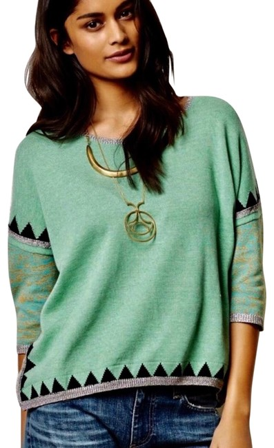 Preload https://img-static.tradesy.com/item/25055889/paul-and-joe-anthropologie-sister-shimmered-green-sweater-0-1-650-650.jpg