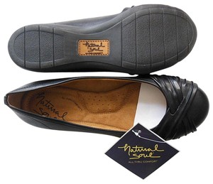 Naturalizer Loafers Synthetic Man Made Driving Black Flats