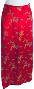 FINESSE Maxi Skirt Red